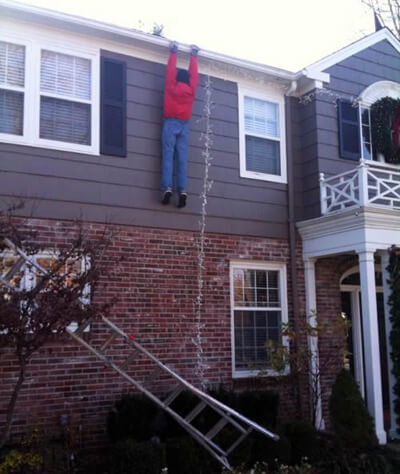 Gutter Cleaning Gone Wrong