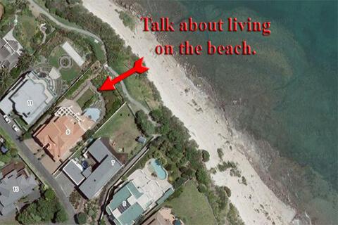 living on the beach